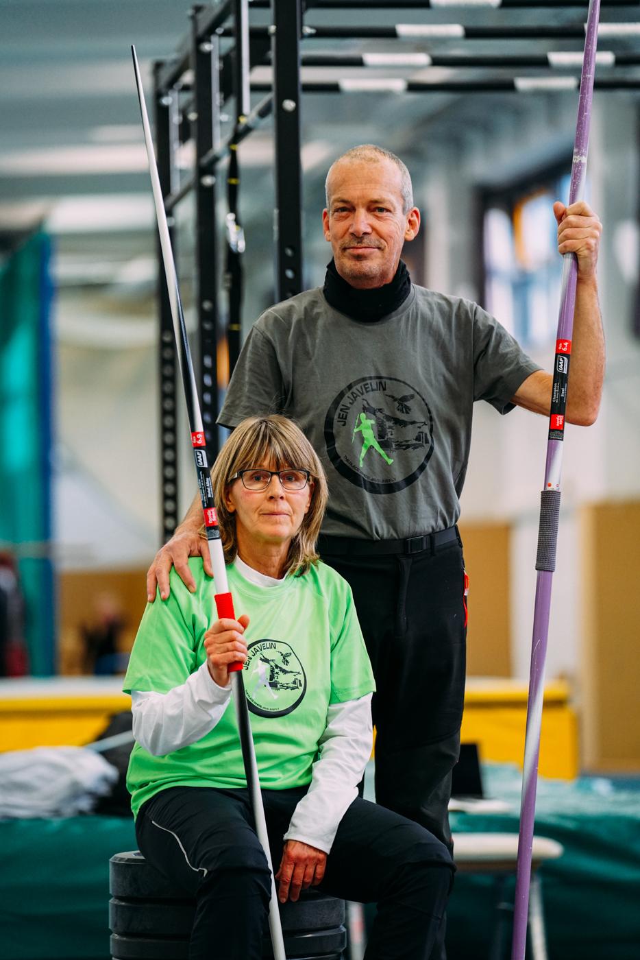 JenJavelin coaches Harro Schwuchow und Petra Felke